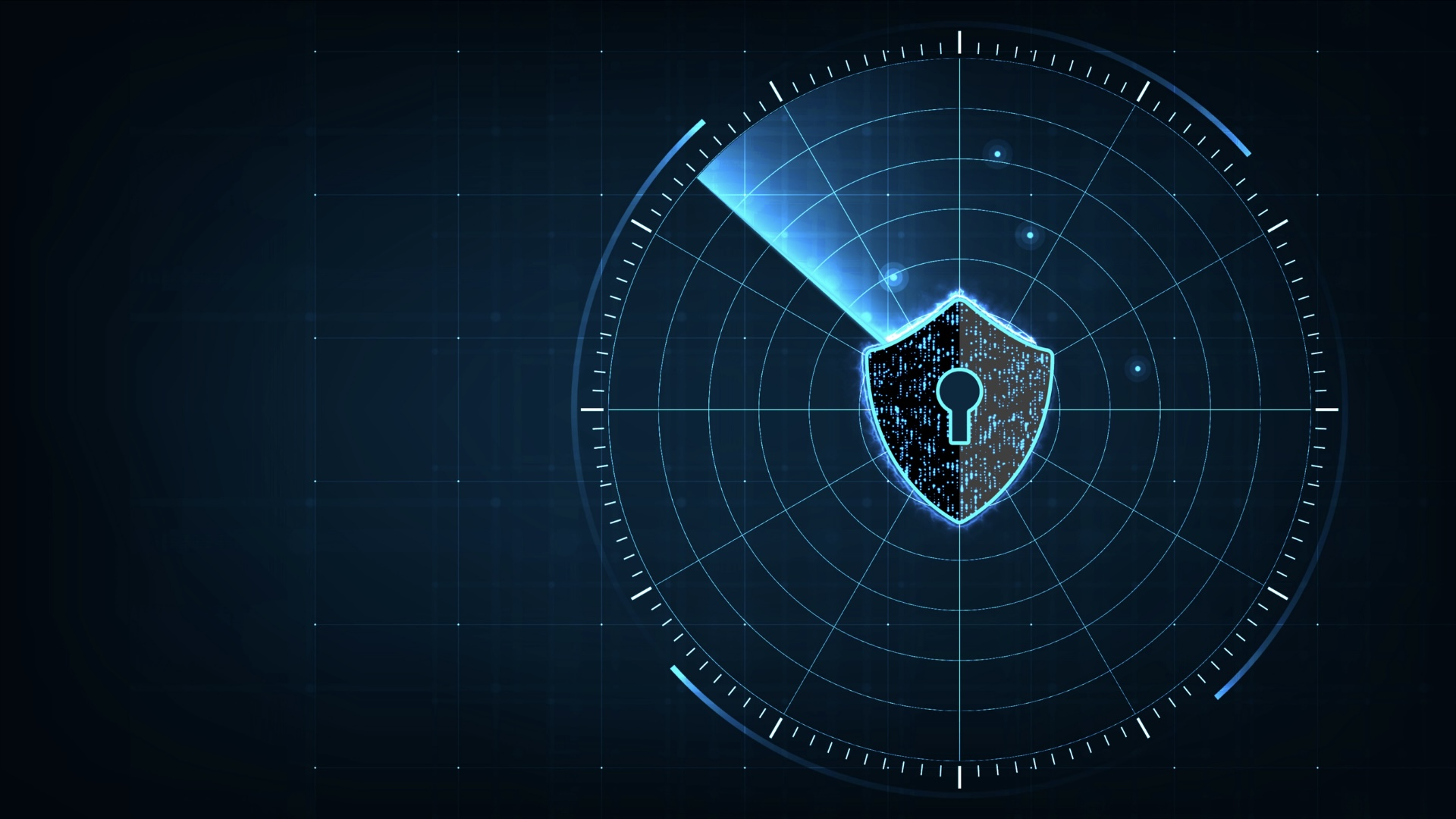 Cyber security concept of protecting and scanning the computer of possible virus attacks