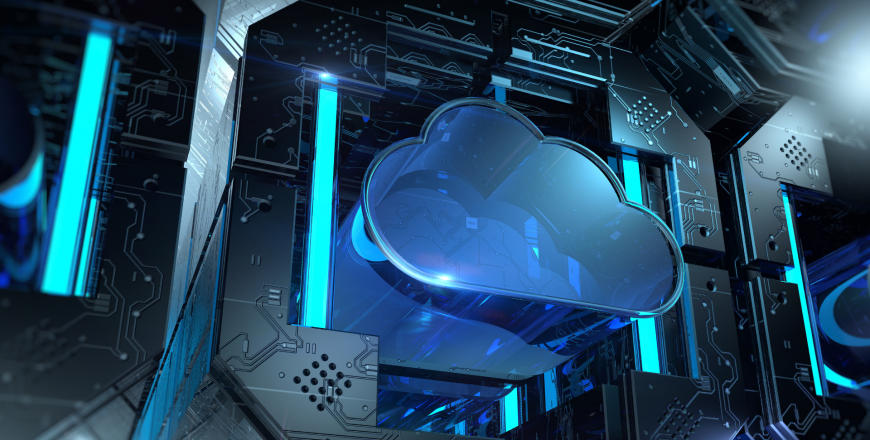 Cloud technology digital concept