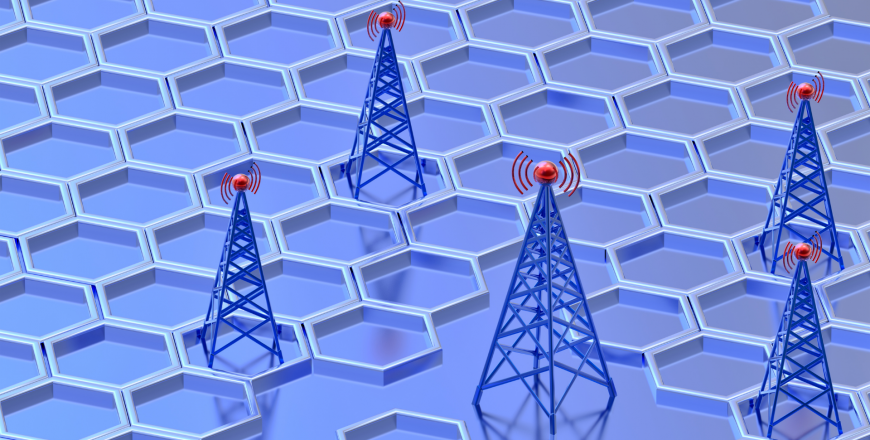 Digital transmitters send signals from radio tower