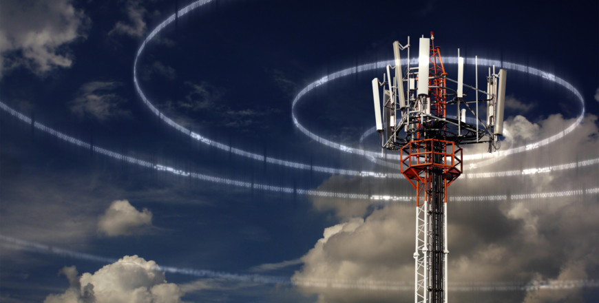 Radio tower transmitting signals