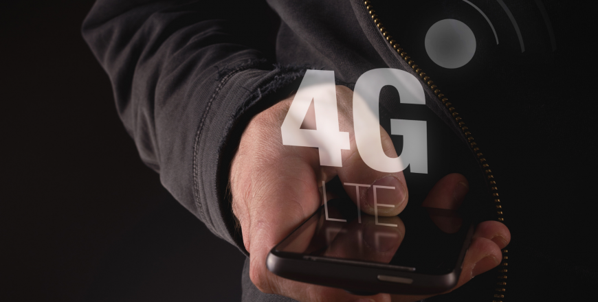 Telecom professional holding device enabled with 4G technology