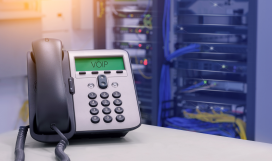 IP phone in data centre room