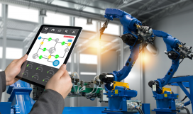 Remote access control of industrial arm in smart factory using tablet
