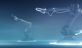 Futuristic robotic industrial arms powered by internet of things technology