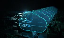 Cloud computing digital concept