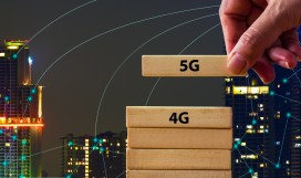 A hand changing 4G to 5G