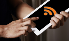 Telecom professional configuring WiFi and hotspot technology on device